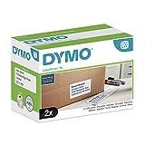 DYMO LW-Versand/Namensscild-Etiketten | 102mm x 59mm | 2Rollen mit je 575leicht ablösbaren Etiketten (1.150Etikettenband) | selbstklebend | für LabelWriter-Beschriftungsgeräte | authentisches Produkt