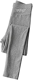 Yuen Leggings/Pantalones Exteriores de Mujer/Pantalones Ajustados de algodón(L, Light Ash)