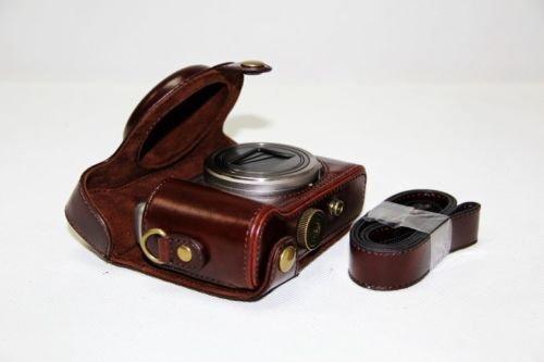PU Leder Kameratasch Kamera-Taschen SLR-Taschen for Sony DSC-HX50V HX50 HX60 Kaffee dark braun