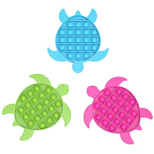 Ardorman 1PCS Bubble Sensor Fidget Toy PU-SH Pop It Fidget Go Bang Autismo Necesidades Especiales Alivio del estrés Juguetes para aliviar la ansiedad (Color Aleatorio)