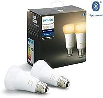 Philips Hue White Ambiance Zestaw, 2x Inteligentna żarówka LED E27 9,5W A60, możliwość przyciemniania, sterowanie aplikacją
