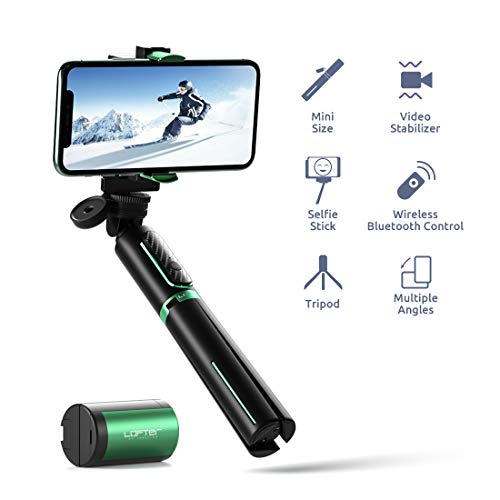 LOFTer Smartphone Gimbal Stabilisator Single Achsen, 3-in-1 Bluetooth Handy Mobile Selfie Stick Stativ stabilizer mit Fernbedienung für GoPro und iPhone 8/9/11 pro max/x/xs/xr, Samsung S9/8/7/Huawei