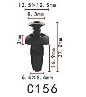 プッシュ リベット 汎用 バンパー用 PF-C156 10個