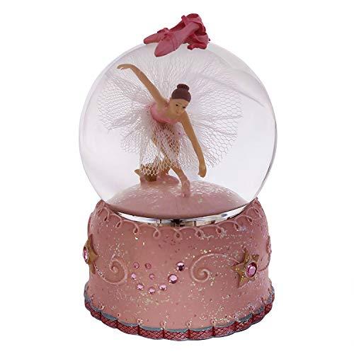 Singeek Ballerina Girl Swan Lake Rotate Musical Snow Globe with Automatic Snowfall and Colorful Lights(Swan Lake)