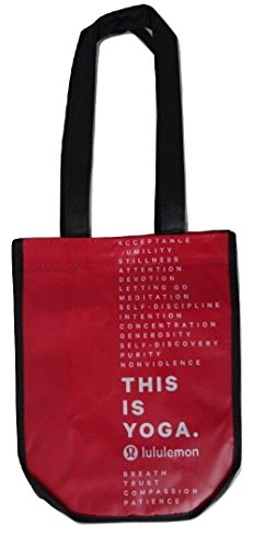 Lululemon Small Reusable Tote Gym Bag (This is Yoga, Red)