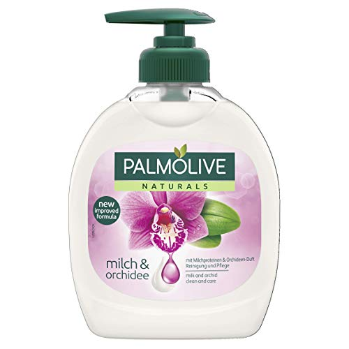 Palmolive Naturals Milch & Orchidee Flüssigseife, 4er Pack (4 x 300 ml)