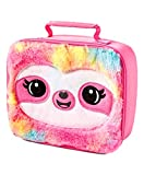Justice Girls Lunch Box for Kids - Sloth Critter Lunch Tote in Pink Fluffy Finish - Insulated Lunch...