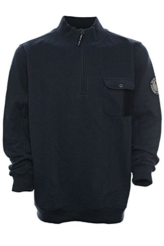 Kitaro Sweatshirt Sweat Troyer Herren Langarm Baumwolle Maritime Classics, Farbe:dunkelblau;Herrengrößen:XXL