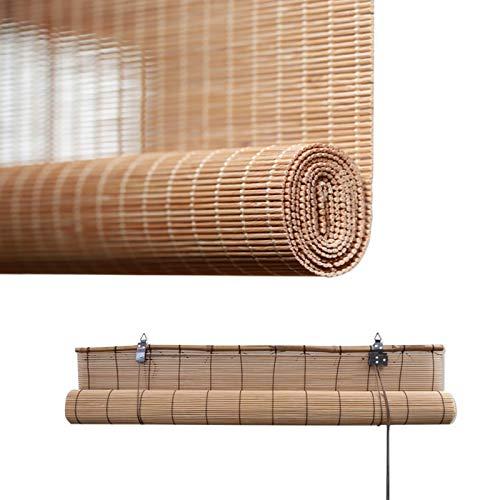 Cortina De Bambú Persianas Caramelo - Persiana De Bambú Para Interiores - Toldo Vertical Pantalla De Privacidad, Personalizable, Cortina De Sombra De Partición, Proteccion Solar, Fácil De Instalar