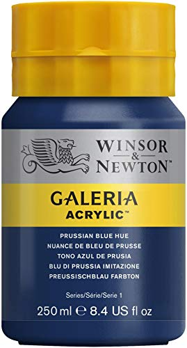 W&N : Galeria : Acrylic Paint : 250ml : Prussian Blue Hue