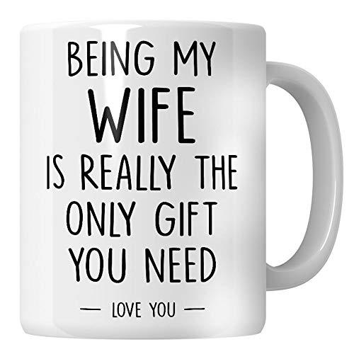 WG - Regalos divertidos para esposa de marido, esposa, cumpleaños, ideas para ser mi esposa es el único regalo que necesitas