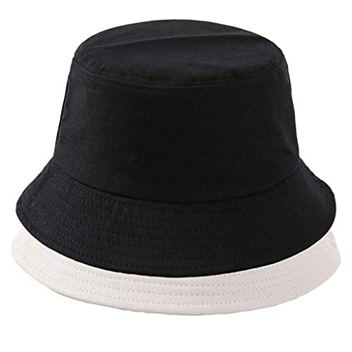 Baoblaze 2x Chapéu de Balde de Moda Clássica de Algodão Chapéu de Sol de Cor