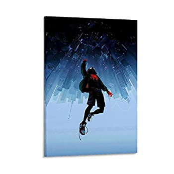 LEZHITAO Spider-Man Enters The Spider-Verse Poster Decorative Painting Canvas Wall Art Living Room Posters Bedroom Painting 12x18inch 30x45cm