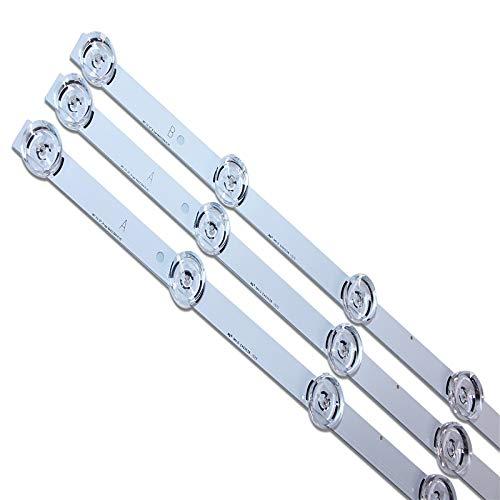 3 PCS(2*A 1*B) LED backlight strip for LGIT A B LG innotek DRT 3.0 32'A B WOREE TV 32MB25V 6916l-1974A 1975A 2223A