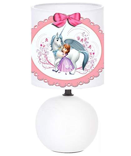Lampe de chevet SOFIA PRINCESSE ET LA LICORNE création artisanale N° 2