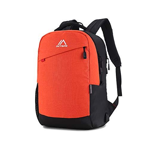 YI-WAN Lightening Burden Mode Unisex Umhängetasche Laptop-Tasche aus wasserdichtem Nylon Outdoor-Reisen Rucksackschultaschenmann- (Color : Blue, Size : 15 INCHES)