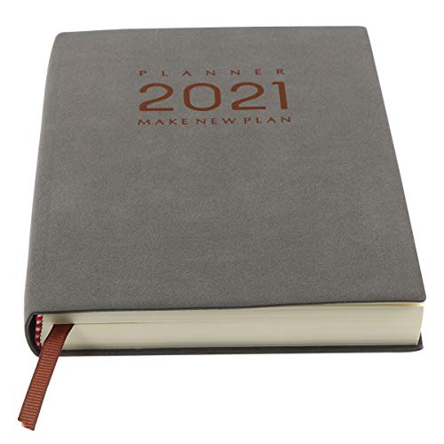 Tomaibaby 2021 Agenda Agenda Diaria Semanal Mensual Planificador Académico Agenda Agenda Organizador Personal para Oficina de Estudiantes Hogar A5 (Gris)