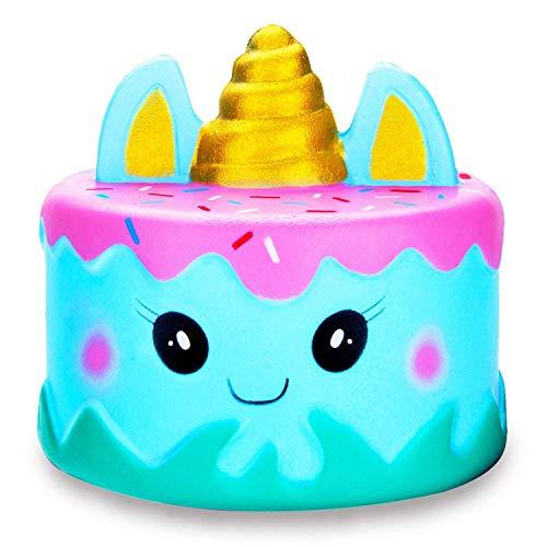 BeYumi Squishies Einhorn Einhorn-Wal Kuchen Emoji Spielzeug Quetschen Spielzeug Slow Rising...