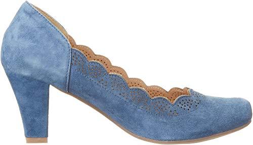 HIRSCHKOGEL Damen 3003409 Pumps, Blau (Jeans), 38 EU
