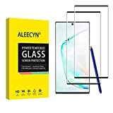 Aleecyn 2 Unidades Protector de Pantalla para Samsung galaxy note 10, 3D Cobertura Completa, Anti Arañazos,Sin Burbujas,Vidrio Templado, Protector de Pantalla Samsung galaxy note 10