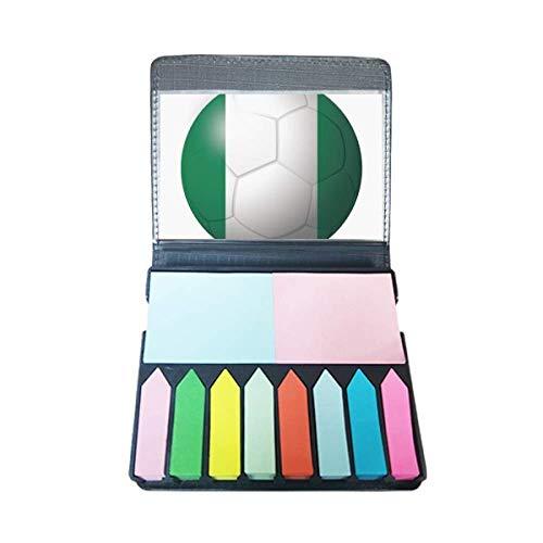 Nigeria nationale vlag voetbal zelfklevende notitie kleur pagina markeerdoos