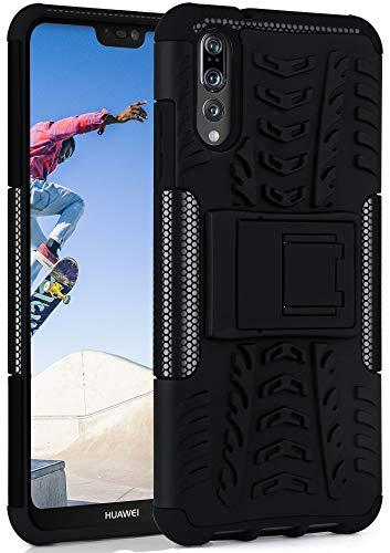 OneFlow Cover Sportiva Doppio Strato Compatibile con Huawei P20 PRO | Silicone/plastica, Nero