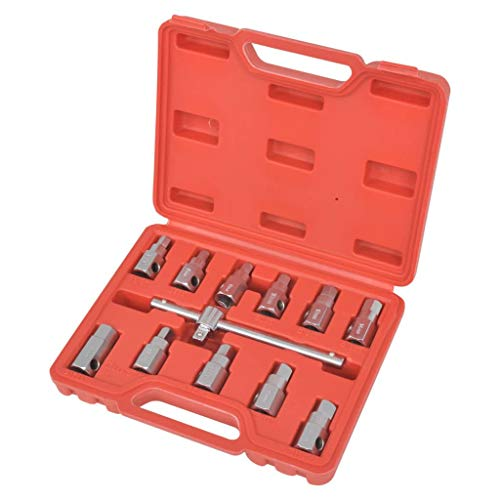 vidaXL Kit de Clés de Carter de Vidange d'Huile Malette à Outil Voiture Garage