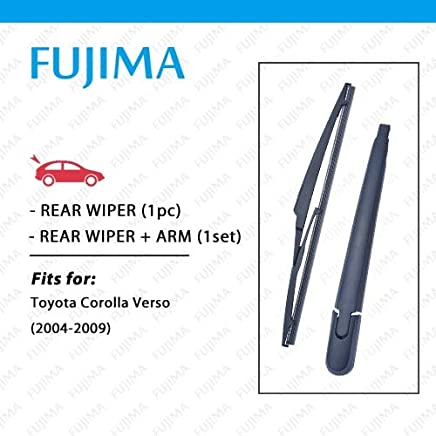 Wipers Rear Wiper Blade and Arm for Toyota Corolla Verso (2004-2009) Back