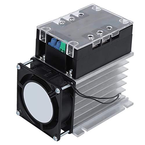 Controlador de arranque suave, placa de arranque del motor, partes eléctricas Accesorio para motor monofásico/bifásico con fondo de aluminio, para bomba de agua, ventilador(Module + radiator)