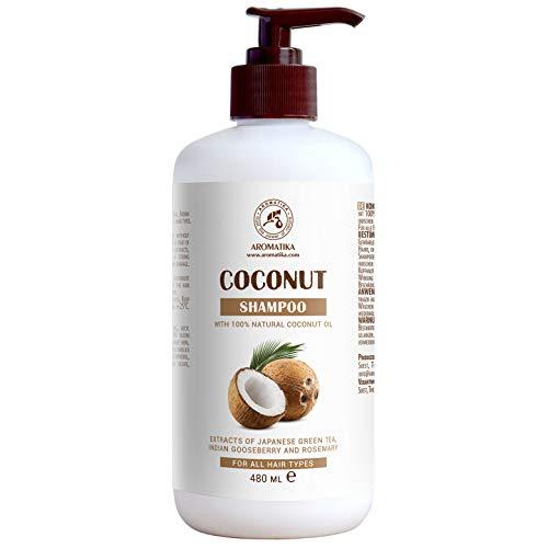 Kokos Shampoo 480 ml - 100% natuurlijke kokosolie - natuurlijke kokosshampoo - sulfaatvrije shampoo - natural shampoo - beautysalon - wellness - persoonlijke verzorging - vrij van kleurstoffen