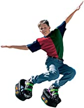 Big Time Toys Moon Shoes Bouncy Shoes, Mini Trampolines For your Feet, One Size, Black, New and improved, Bounce your way to fun, Very durable, No tool assembly, Athletic development, up to 160 lbs