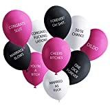 Funny Adult Balloons for Bachelorette Party   Hilarious NSFW Gag Gift for Parties   20 Pack   Naughty Abusive Balloons by Shitty Merch