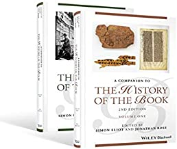 Companion to the History of the Book, 2 Volume Set (Blackwell Companions to Literature and Culture)