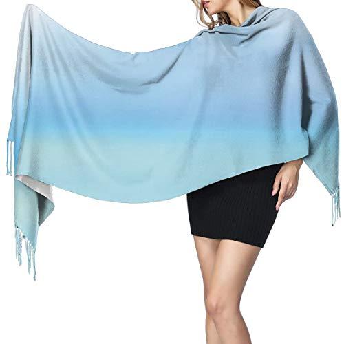 Womens Large Soft Cashmere-like Pashmina Shawls Wraps Scarf Scallop Seashell And Starfish Close Up Sandy Beach Idyllic Ocean Backdrop Design Winter Warm Tassel Shawl Scarves