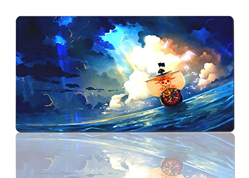 Anime Mouse Pad Lu-ffy Ro-ronoa Zo-ro Large Gaming Non-Slip Rubber Mouse Pads for Office Desk Laptops and Pc Mousepad 15.8x29.5Inch