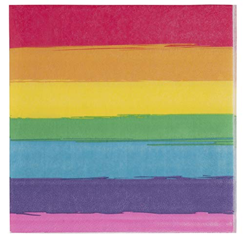 Rainbow Party Supplies Paper Napkins (6.5 x 6.5 In, 150 Pack)