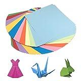 HEOCAKR Papel para Papiroflexia, 100 Hojas Papel de Origami 15 x 15 cm 10 Colores para Manualidades DIY Proyectos de Artes y Manualidades, Cuadrado Color Papel Plegable