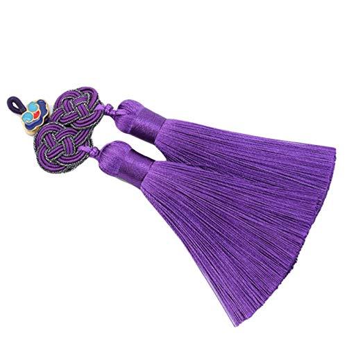 Godong - Marcapáginas con borla, diseño de borla, color morado
