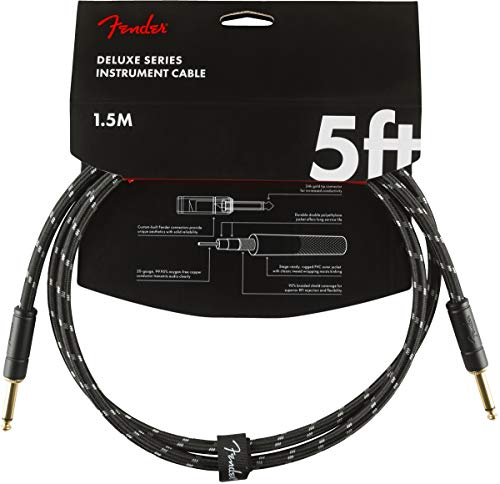 Fender Kabel Deluxe Series, 1,5m, black tweed