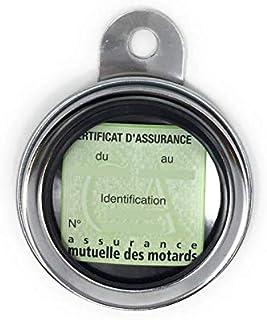 Bihr Porte vignette d'assurance Ø88mm acier chromé universel