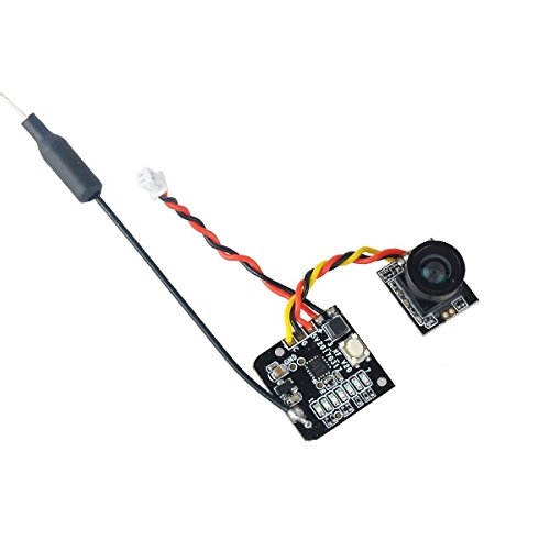 Makerfire FPV Micro Cámara AIO 5.8G 40CH Video VTX Switchable Raceband Soporte OSD FOV 150 ° para FPV Drone como Blade Inductrix Tiny Whoop