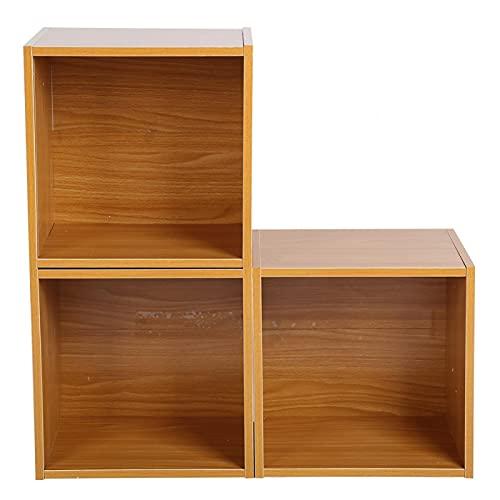 Librería de cubo multiusos de tablero de partículas duradera y ecológica nueva para la oficina en casa