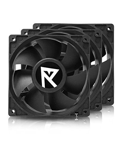 Nanoxia Hydra 120mm 4200rpm High Speed High Pressure Fan for GPU Servers, with 4-pin Molex Connector, 3 Pack