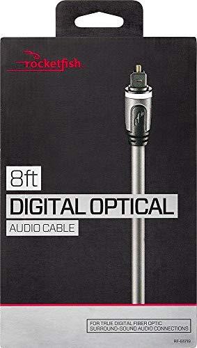 New Rocketfish Digital Fiber Optic Audio Cable - 8ft (2.4M) Michigan