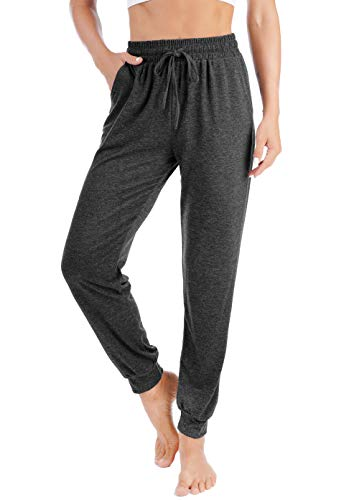Workout Sports Running Athletic Pants for Women Capris Leggings High Waist Yoga Pants, Charcoal Grey S