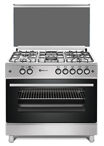 Cocina SolThermic F9L50G2-I PANORÁMICA de color Color INOX compuesta por 5 Quemadores y Horno panoramico