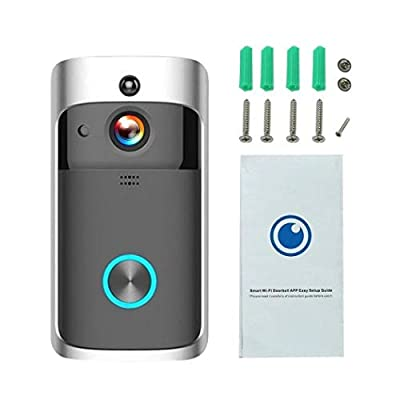 Fercisi Home Wireless Remote Monitoring Real-Time Two-Way Talk Video Doorbell Remote Home Monitoring Systems