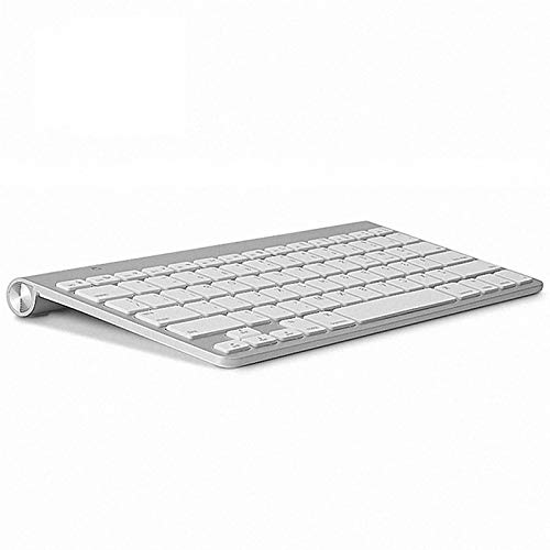Teclado Bluetooth Ultra-Slim Bluetooth tabletas y teléfonos Inteligentes Teclado Bluetooth (Color : American Layout)