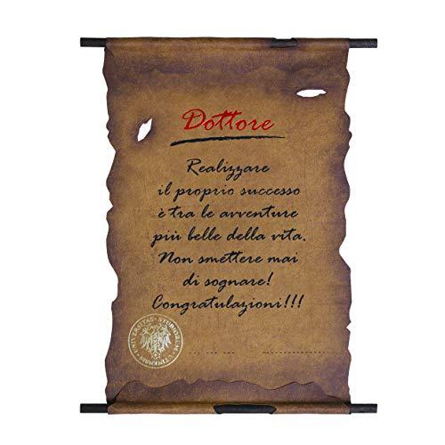 Biglietto Pergamena Laurea (DOTTORE)