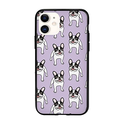 Happy Double Hooded Pied Frenchie iPhone 11 Pro Max-6.5 Inch Case Soft and Flexible TPU ANG Pc Design Shockproof Protective for iPhone 11 Cases